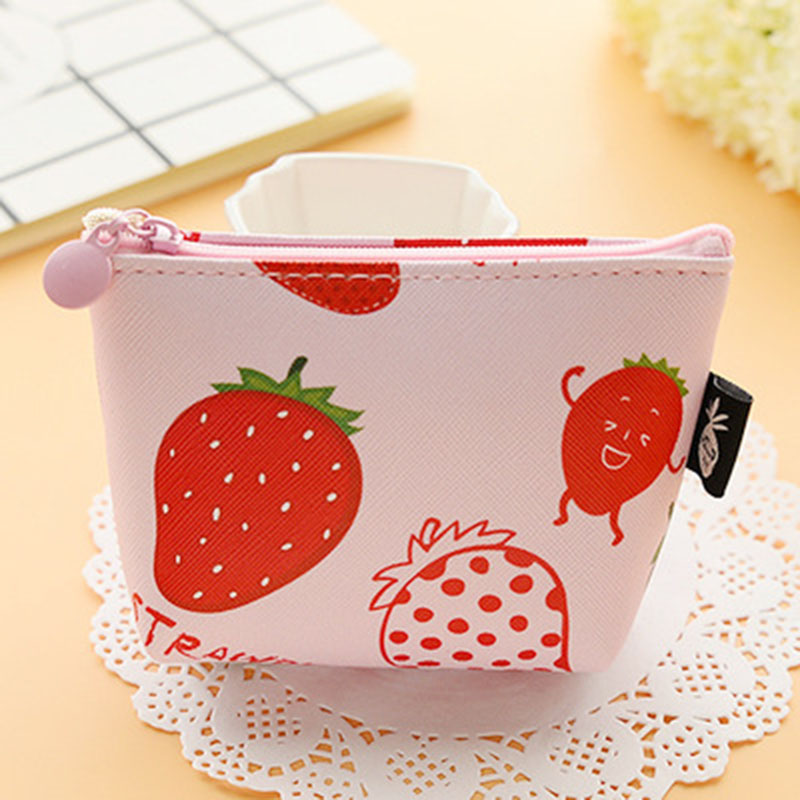 Small Lovely Coin Purse Cute Kids Cartoon Wallet Bag Coin Key Pouch Children PU Leather Holder Girls Square Makeup Bag WT0072