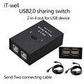 Novos produtos USB 2.0 Hub Mudar Sharing Manual 2 em 4 Teclado e mouse sharing switch compartilhamento de Impressora para Compute