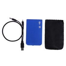 Super Speed Slim Portable USB 2.0 HDD Enclosure External Hard Case for SATA 2.5 Hard Disk Drives HDD Box Desktop Laptop Hot Sale