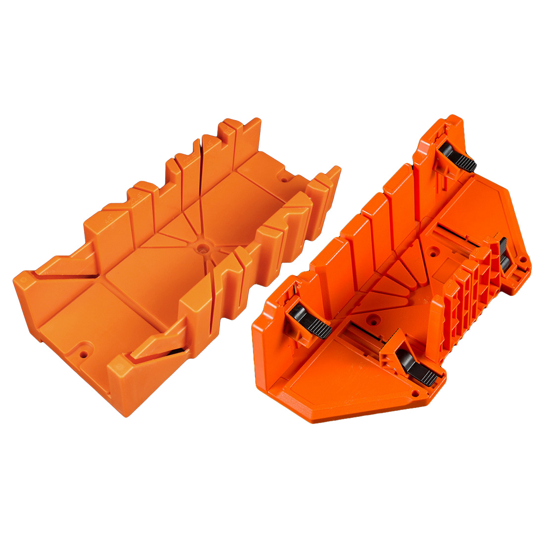 45/90 Degree Saw Guide Woodworking Multifunctional Miter Saw Box Cabinet 12/14inch ABS Plastic Miter Box Orange