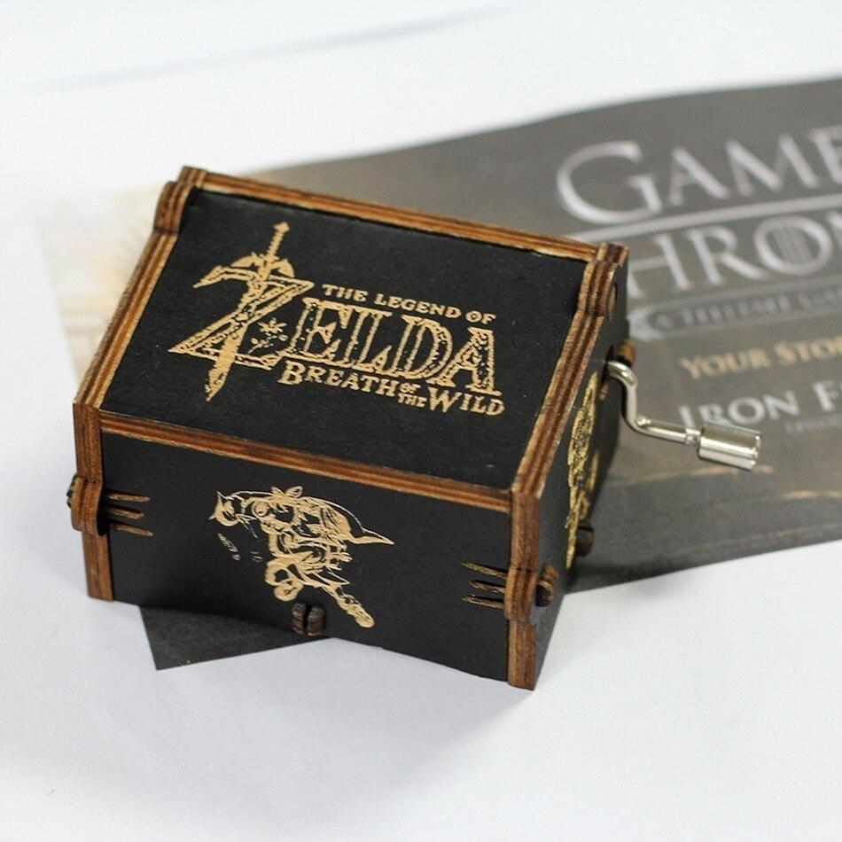 Лидер продаж деревянная ручка музыкальная шкатулка игра трон Пираты Кариб Звездные войны замок Inthe Sky Рождественский подарок - Цвет: The Legend Of Zelda