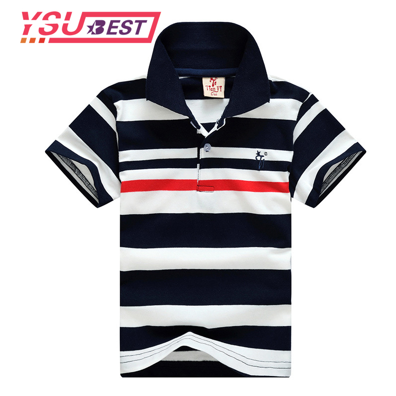 New Kids Boys Stripe Polo Shirts Style Fashion Summer tops 2018 Children Cotton Short Sleeve Clothes Toddler Pattern Polo Shirt серьги коюз топаз серьги т242025495