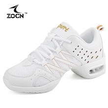 ZOCN 2016 New Dance Shoes Women Hip Hop Jazz Salsa Dance Shoes Breathable Fashion Shoes Soft And Comfortable Chaussures Femme