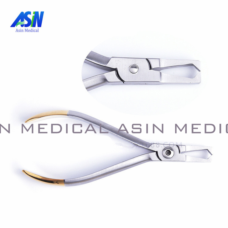 Dental bracket removing pliers head straight orthodontic bracket removing forceps tooth type imported stainless steel orthodontic dental clinic stainless steel photography mirrors