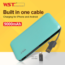 WST Charger Energy Financial institution 9000mAh Backup Energy 5V 2A for All Cellphone Smartphone Li Polymer poverbank 2.1A battery charger