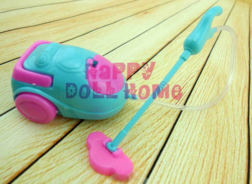 One Pcs Doll Accessories Super Cute Vacuum Cleaner Doll Furniture For  Barbie Doll Baby Toys(
