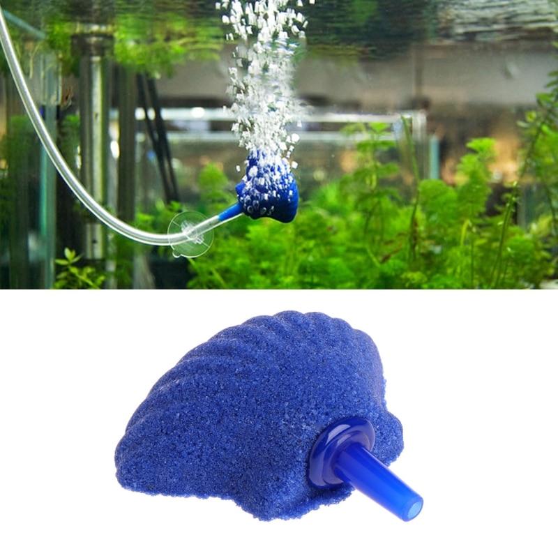Shell Shape Stone Aerator for Aquarium Fish Tank Pump Hydroponic Oxygen Plate Mini Aquariums Accessories Air Pump