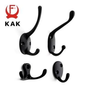Image 1 - KAK 5pcs/lot Zinc Alloy Bronze Clothes Hangers Wall Hooks Coat Bag Hat Hanging Hooks Bathroom Kitchen Anitque Racks with screws