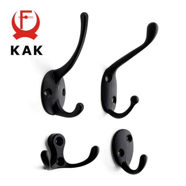 KAK 5pcs/lot Zinc Alloy Bronze Clothes Hangers Wall Hooks Coat Bag Hat Hanging Hooks Bathroom Kitchen Anitque Racks with screws