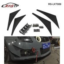 RASTP-4Pcs/Set Universal Fit for Front Bumper Lip Diffuser Splitter Fins Body Spoiler Canards Valence Chin Air Knife RS-LKT009