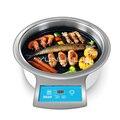 Электрический гриль бездымный бумажный барбекю круглый коммерческий гриль для мяса Корейская печь для барбекю DT31