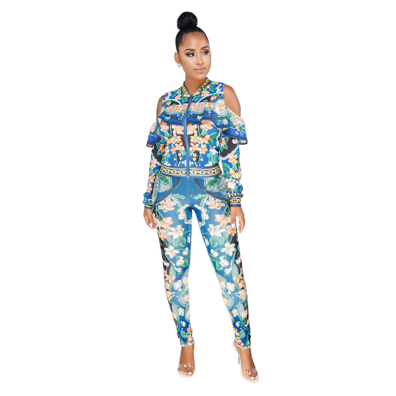 African Print Dresses For Women Dashiki Traditional African Two Piece Set Print Tracksuit Bazin Tops Pants Clothing Female Suit (19)