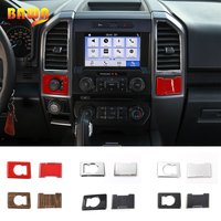 HANGUP 4WD System Adjust Switch Button Electrical Socket Power Supply Panel Decoration Cover For Ford F150 2015 Up Car Styling