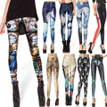 Hot Sale Women Sexy vintage Egypt Pharaoh King Tut Cheshire Cat Mechanical Bones White Black Aurora Skye Orange Leggings