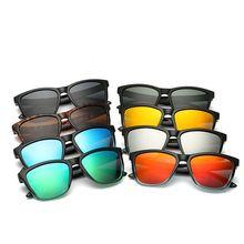 1 шт., зеркальные солнцезащитные очки для мужчин и женщин, полуметаллические дизайнерские очки, солнцезащитные очки для вождения, модные классические очки для вождения
