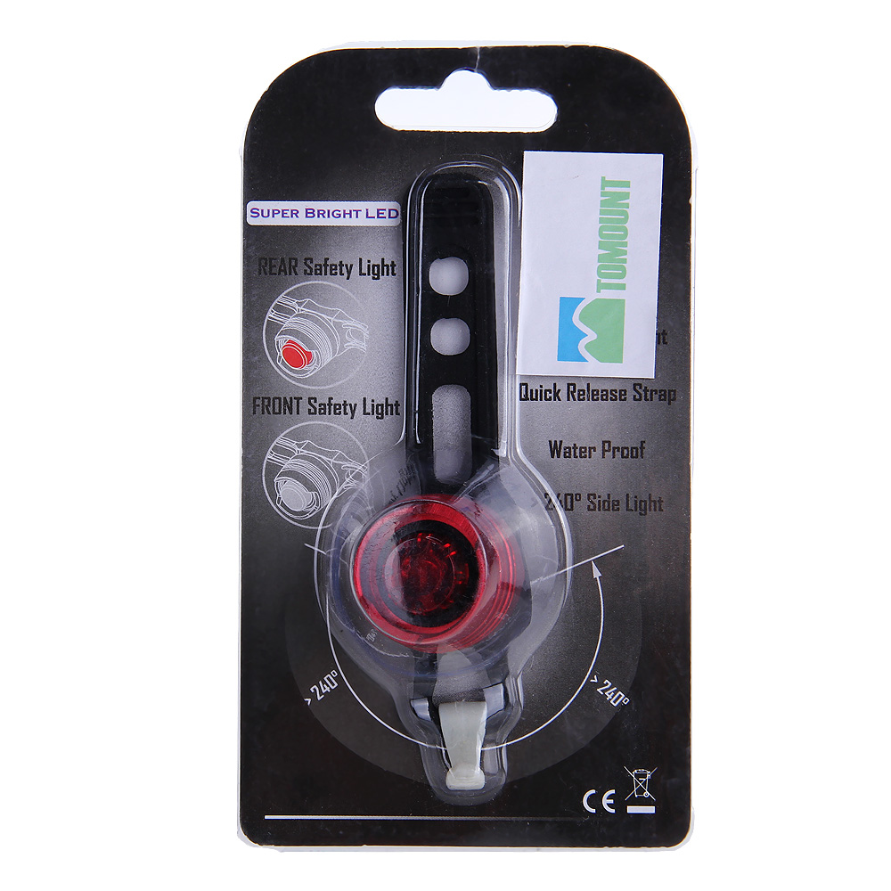 MTB Mountain Bike Bicycle Safety Protection Helmet Tail Rear Light Bulb Lamp