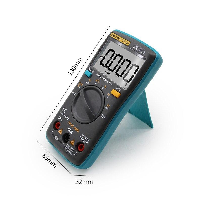 Image 4 - ZOYI Digital Multimeter ZT98/100/101/102 True RMS Auto Range Multimetro Voltmeter Ammeter Capacitance Temperature Hz  NCV Tester-in Multimeters from Tools