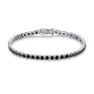 Image 3 - CMajor 925 sterling silver jewelry classic tennis bracelet prong setting cubic zirconia bracelets for women Mothers Day Gift