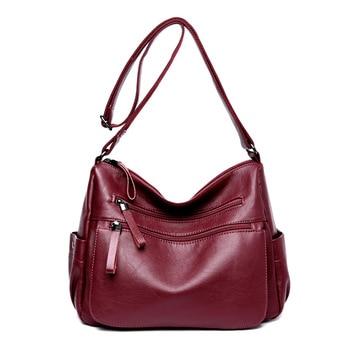 High Quality Women Casual Messenger Shoulder Bags Leather Female Handbag Vintage Crossbody Women Bag bolsas femininas Sac a Main