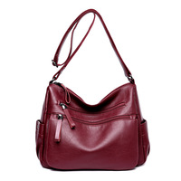 High Quality Women Casual Messenger Shoulder Bags Leather Female Handbag Vintage Crossbody Women Bag Bolsas Femininas