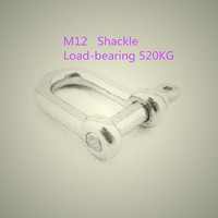 1PCS LOT YT526B M12 304 Stainless Steel Type D Shackle Bow Shackle Quick Release Fastener Load
