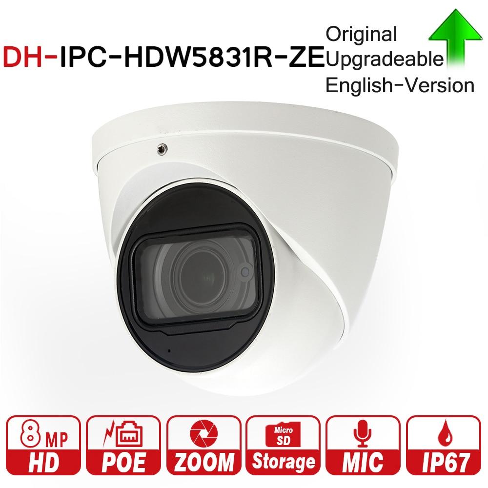 DH IPC-HDW5831R-ZE con logo 8MP WDR Bulbo Oculare di Rete Della Macchina Fotografica 2.7-12mm Obiettivo Motorizzato Built-In Mic Micro Carta di DEVIAZIONE STANDARD IP67 PoE 50 m ICR