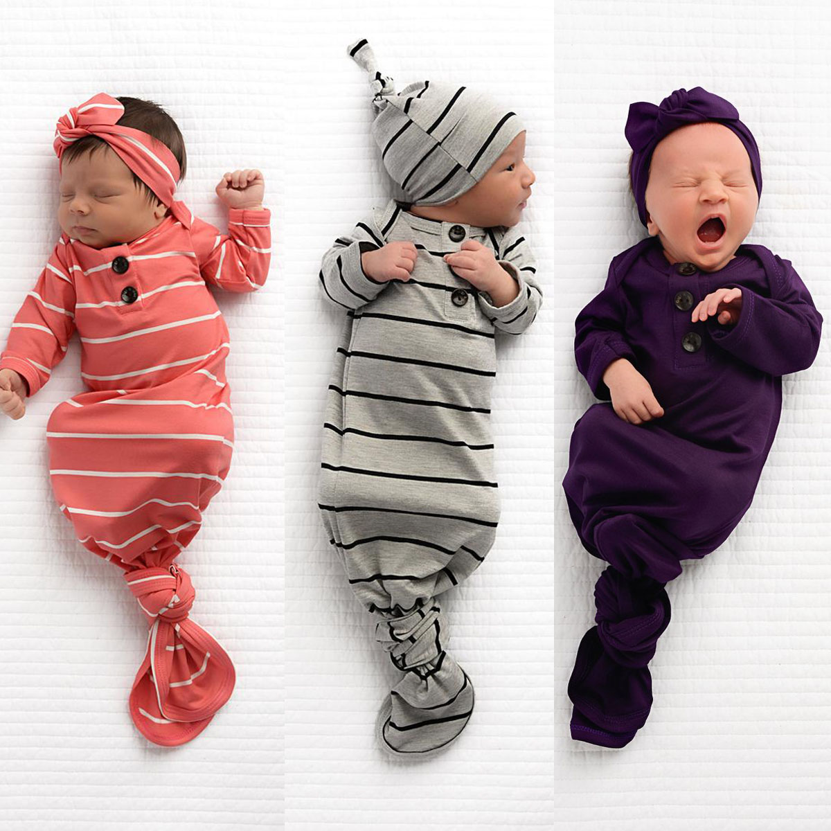 Pudcoco Newborn Baby Sleeping Bag Blanket Swaddle Wrap Bedding Clothes Hat Outfit
