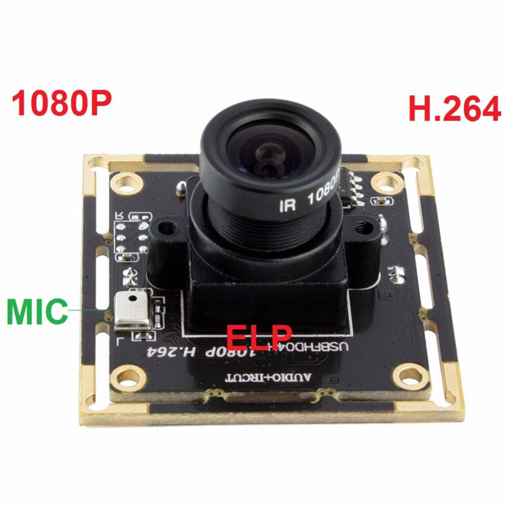 2MP 1080P CMOS AR0330 H.264 MJPEG YUY2 30fps UVC Android Linux Windows plug and play driverless USB Camera Module MIC