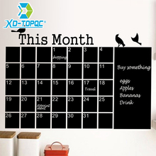New 2016 Calendar Wall Stickers Office Chalkboard PVC Removable Blackboard Memo Message Board Free Shipping free shipping 2017 wood magnetic blackboard dry wipe chalkboard office supplier 20 30cm factory direct sell home decorative