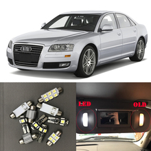 23x White Interior LED Light Bulbs Canbus Kit For 2002-2010 Audi A8 D3 Accessories Map Door Glove Box License plate light Lamp