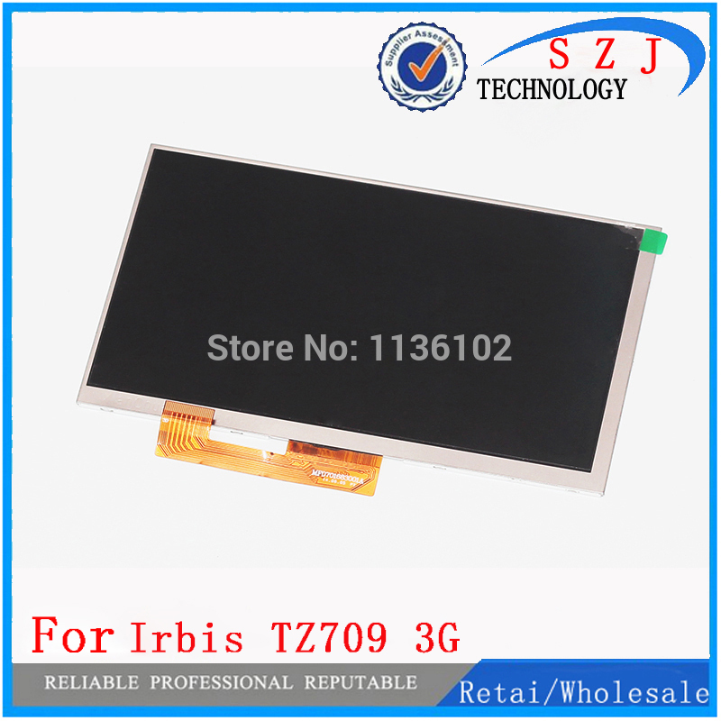 New 7'' inch LCD Display Matrix For Irbis TZ709 3G TABLET 30pins LCD Screen Lens Module replacement Free Shipping fotga dp500iii 15mm to 19mm rail rod clamp adapter for dslr qr follow focus rig f21812