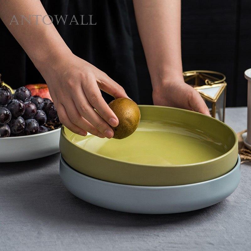 ANTOWALL style américain bol à vaisselle en céramique tête de poisson bol à soupe grande capacité bol ménage micro-ondes vaisselle Manhattan