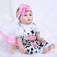 55CM Reborn Dolls with Pastoral Dress for Girls Handmade Collectible Toys Bebe Reborn SB5556 Dolls Princess