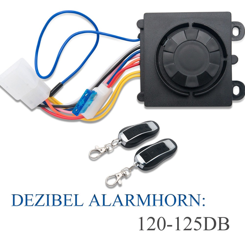 Motorcycle Alarm System Immobiliser Security Remote Control Anti-theft Motorcycle Bike Security System