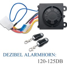 Motorcycle-Alarm-System Immobiliser Bike-Security-System Remote-Control Anti-Theft