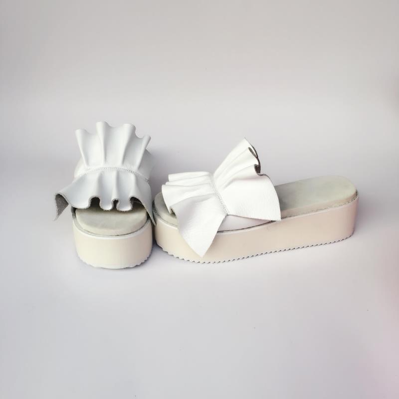 c256f2afb Cómodo Harajuku Hoja Inferiores Princesa Delgado Muffins Sandalia An7555  Loto Dulce Lolita Zapatillas Plata Verano De Zapatos ...