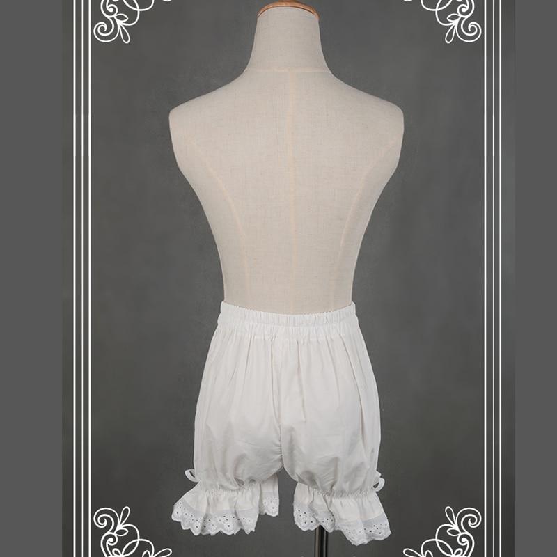 Dantel Kırpma ile Tatlı Pamuk Lolita Şort / - Bayan Giyimi - Fotoğraf 4