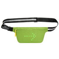 LED Signal Light Lightweight USB Rechargeable Reflective Waist Belt Outdoor Sport Safety Bag Fanny Pack Bag for Cycling Running