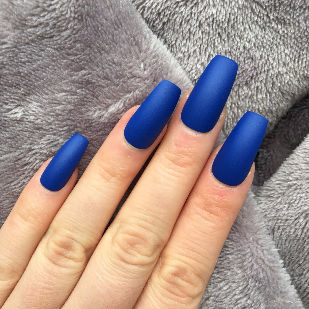 1bags/ lot Full Nails Coffin Shape Artificial French Fake Nail Tip ...