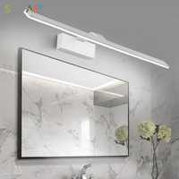 SOLFART modern led sconce wall lights arandela bathroom lighting mirrors iron paint acrylic mirror light bathroom lamp 6327
