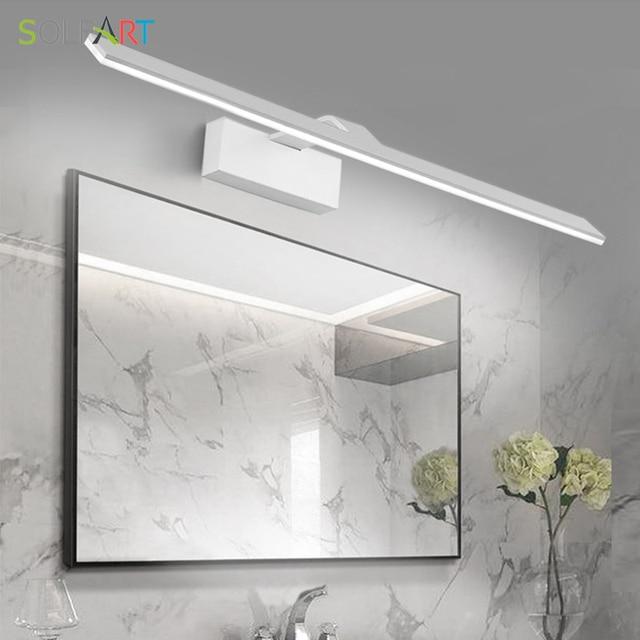 SOLFART Moderne Led Applique Appliques Murales Arandela éclairage Salle De Bain  Miroirs Fer Peinture Acrylique Miroir