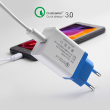 Universal USB Quick charge 3.0 5V 3A for iPhone 7 8 X EU US Plug Mobile Phone Fast charger charging for Samsug s8 s10 Huawei P30 3 usb quick charge 3 0 5v 3a eu us for iphone 7 8 eu us plug mobile phone fast charger charging for samsug s8 s9 xiaomi note 7