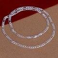 Оптовая Продажа 925 ювелирных изделий посеребренное ожерелье и кулон, модные ювелирные аксессуары, мужские 4 мм 16 \