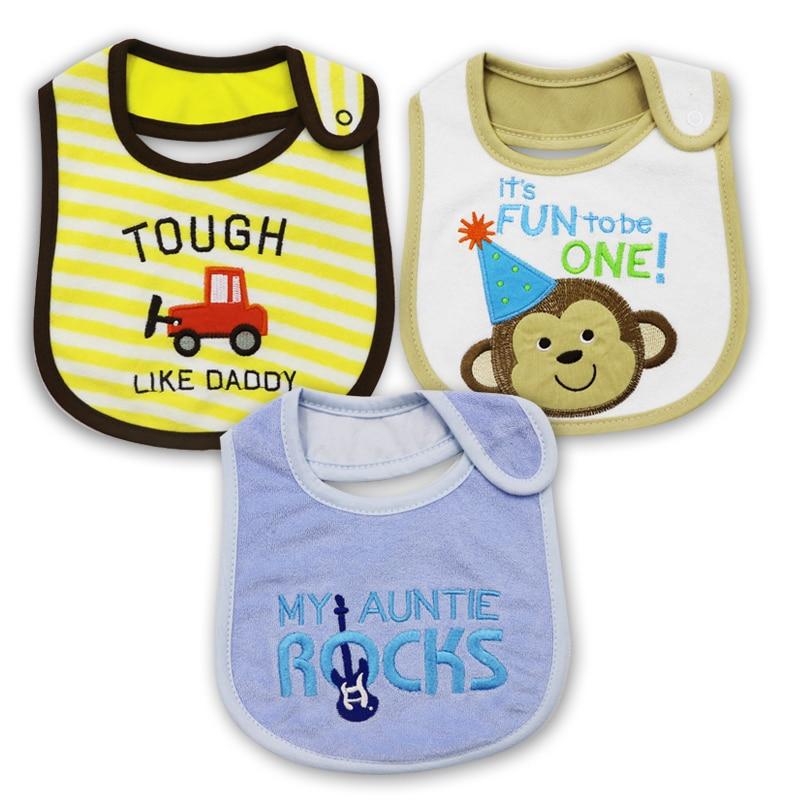3 stuk bavoir bandana kwaliteit baby jongen bib handdoek speeksel - Babykleding