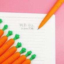 10 шт./лот, Милые силиконовые бархатные Морковные овощные пресс, автоматические механические карандаши, школьные принадлежности, канцелярские принадлежности для студентов 0,5 мм