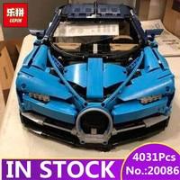 IN STOCK LEPIN 20086 20086B 4031Pcs Technic Series 42083 Blue Chiron Racing Car Set Building Blocks Bricks Kids Toys Car Model