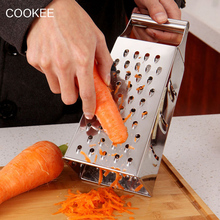 4 en 1 Multifunción Cocina Cortadoras De Verduras Patata Zanahoria Dicer Ensalada Fabricante Auxiliar Rallador de Acero Inoxidable