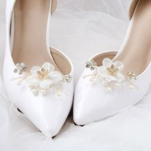 Shoe Clip Floral Simulated Pearl Mini Decoration DIY Women Sandals Charms Flower Clips Shoes Buckle Fashion Elegant Accessories eykosi new fashion 2pcs shoe decoration clothes diy leaves flower ornaments charms removable floral hot 2018