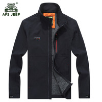 AFS JEEP 2017 Quick dry jacket Spring men's good quality casual brand windproof jackets coats man autumn army green coat M 4XL