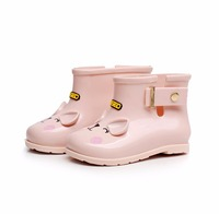 2018 summer Mini Melissa Children Cat Boots Girls Jelly Water Boots Princess Shoes Soft Boots KIDS Anti-Skid Shoes